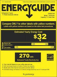 Energy-Requirements-EdgeStar-CRF321SS-3.1-Cu.-Ft.-Dorm-Sized-Refrigerator