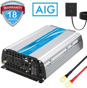 1200W Power Inverter DC12 Volt to AC 120 Volt with 20A Solar Charge Controller